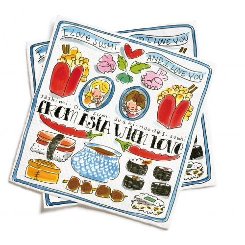 Set of 20 napkins 'From Asia with love'