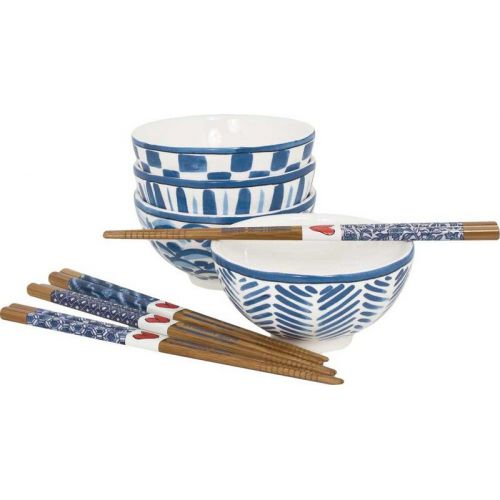 GIFTSET ASIA 4 BOWLS AND CHOPSTICKS