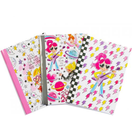 3-Pack A5 Exercise Books You Rock My World