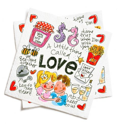 Set van of 20 napkins Love