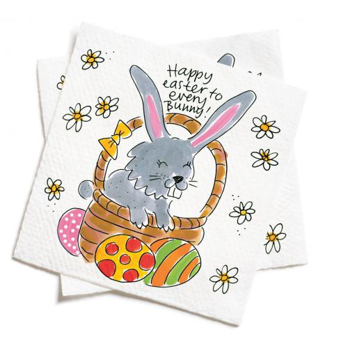 Set of 20 Napkins Happy Easter