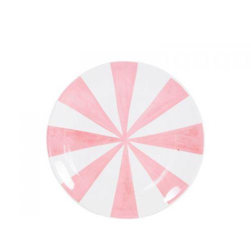 Taartbord  ø18cm Roze Strepen