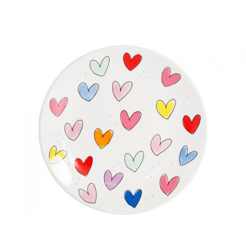 Breakfast Plate ø22cm Hearts