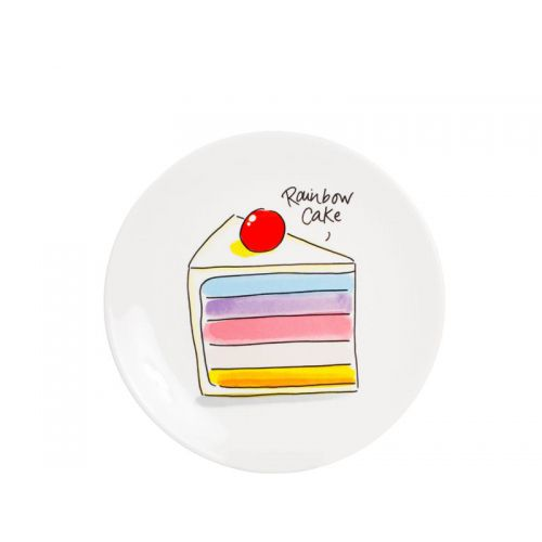 Dessert Plate Rainbow Cake ø18cm