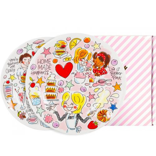 Set of 2 Breakfast Plates Cake ø22cm