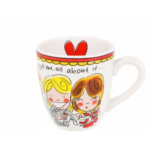 Mini mug red text