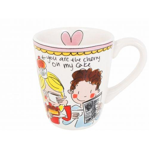 Mug Pink Rim 0,35L