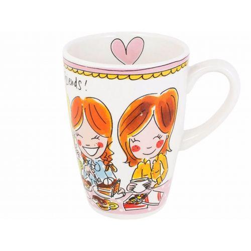 XL mug pink text
