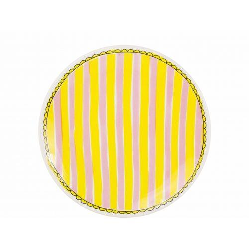 Breakfast Plate ø22cm Stripe