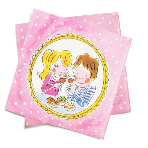 Set of 20 Napkins Cheers