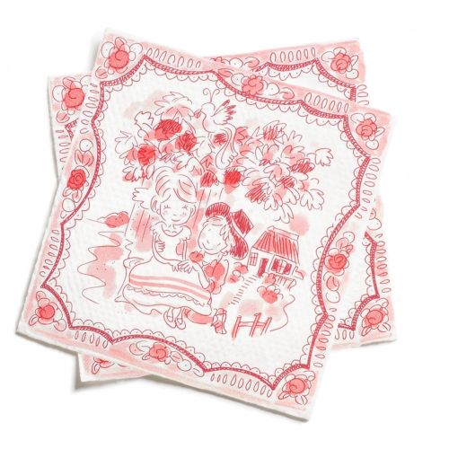 Set of 20 napkins Romance