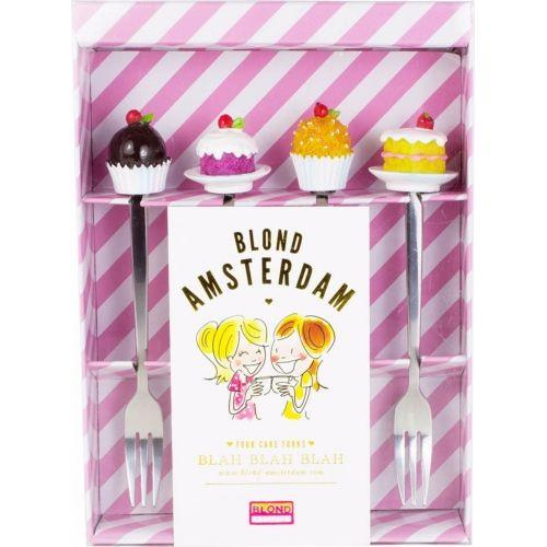 Set of 4 cake forks EB