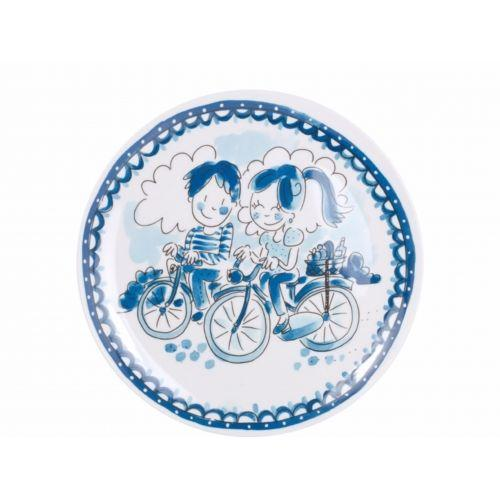 Melamine plate Bikes Delfts Blond