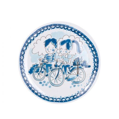 Melamine Plate ø22cm Bikes Delfts Blond