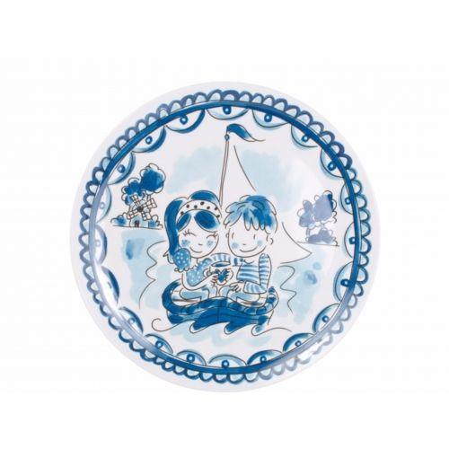 Melamine Plate ø22cm Boat Delfts Blond
