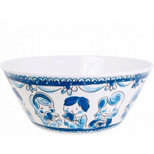 Melamine bowl ø25cm Delfts Blond
