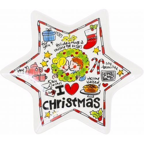 Stervormig kerstbord Red Heart