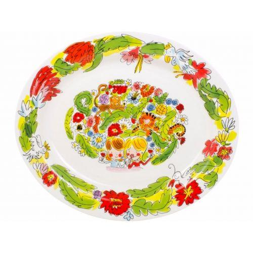 Oval Serving Platter ø38cm Paradise