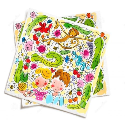 Set of 20 Napkins Paradise