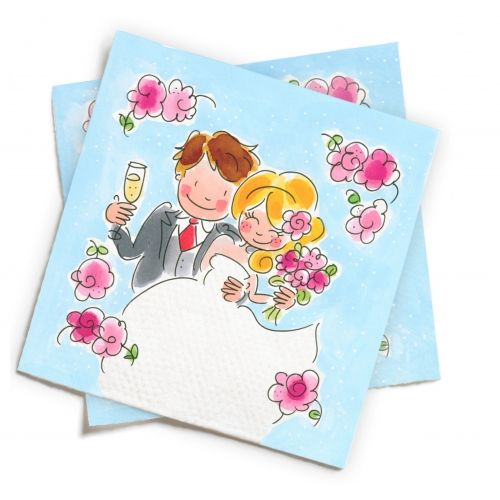 Set of 20 Napkins Wedding