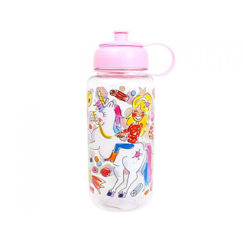 Water Bottle Unicorn 1L soft pink