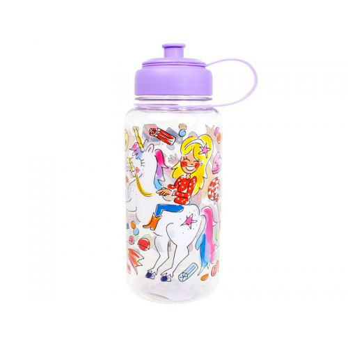 Water Bottle Unicorn 1L Purple