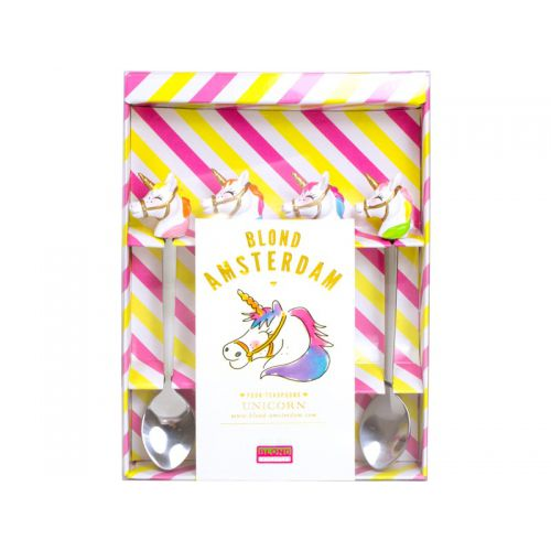 Set of 4 teaspoons Unicorn