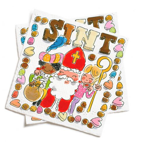 Set of 20 napkins Saint Nicholas