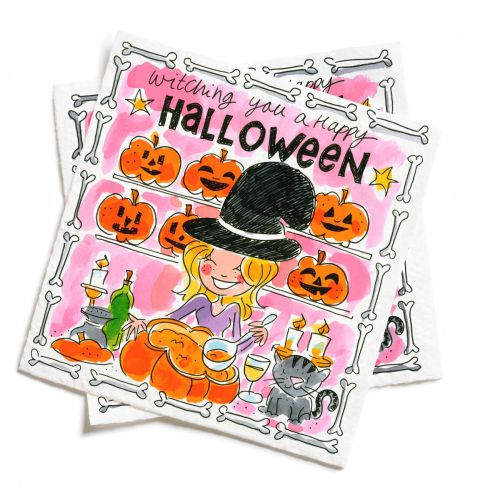 Set of 20 napkins Halloween