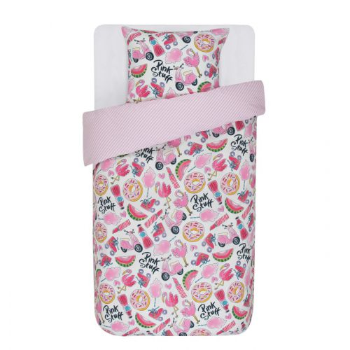 Duvet cover Pink Stuff 1p set 140x200 + 60x70