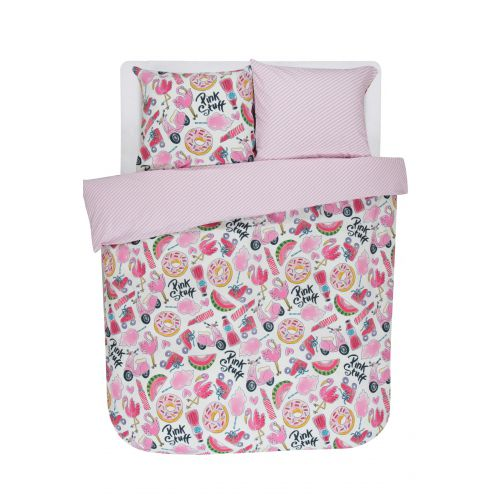 Duvet cover Pink Stuff 2p set 240x220 + 60x70