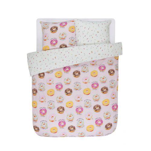 Dekbedovertrek Donuts 2p set 200x220 + 60x70