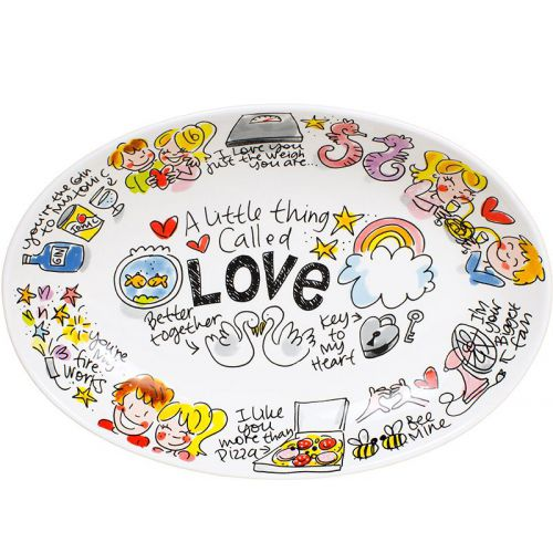 Oval bowl ø28,5cm Love