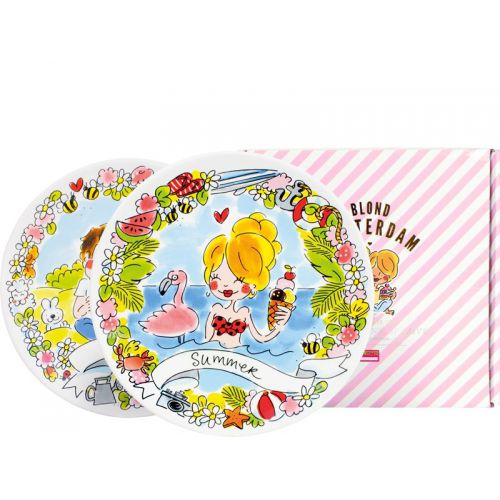 Set of 2 Breakfast Plates ø22cm Spring & Summer