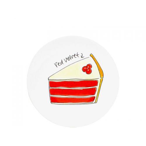 Cake plate ø22 cm Red velvet cake