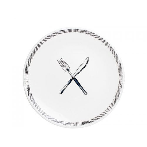Breakfast Plate ø22cm Fork & Knife