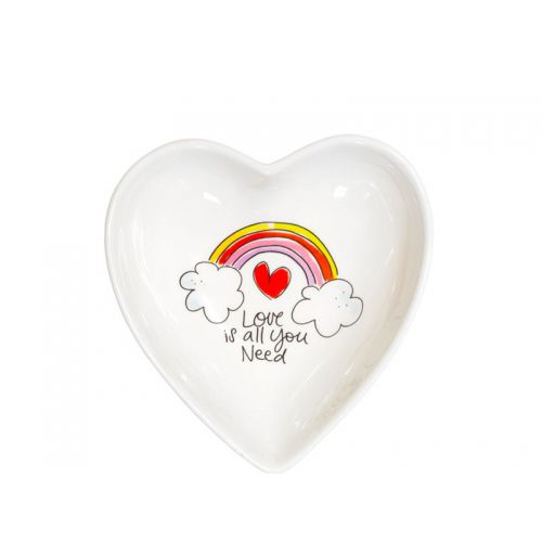 Kom hart ø16cm Love is all you need