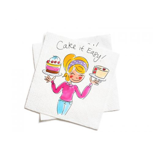 Set of 20 napkins Cake