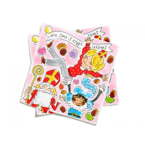 Set of 20 Napkins Saint Nicholas- Who is Sweet