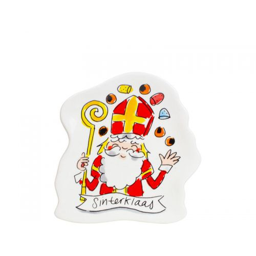 Shaped plate Saint Nicholas