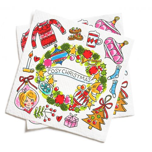 Set of 20 Napkins Christmas 2019