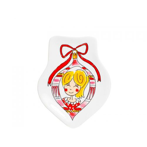 Shaped plate Christmas Girl