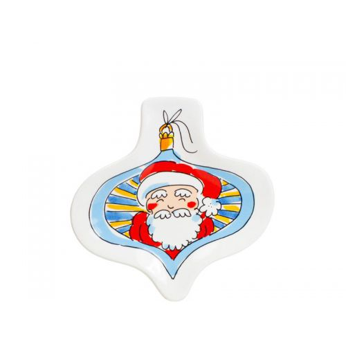 Shaped plate Christmas Santa