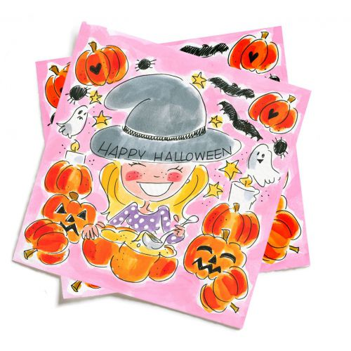 Set of 20 napkins Halloween Pumpkin