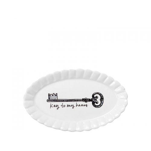 Oval Dish ø14cm Key
