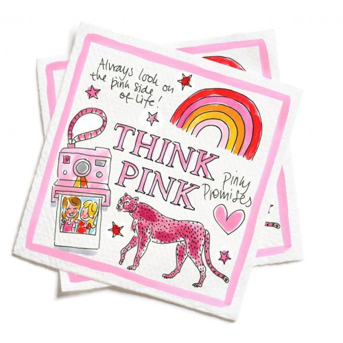 Set of 20 napkins Pink Days