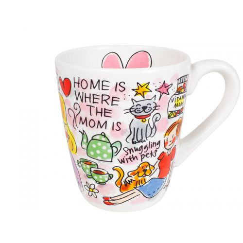 Mug: Home is where the mom is love, 0,35L