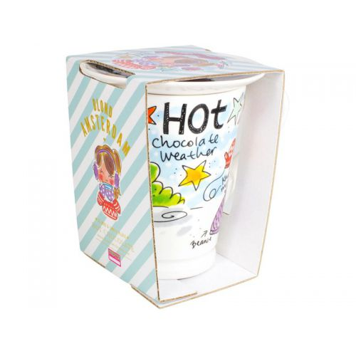 Set Hot Season XL Beker + Petit Four (Blauw)
