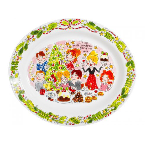 Oval Serving Platter ø36cm X-Mas