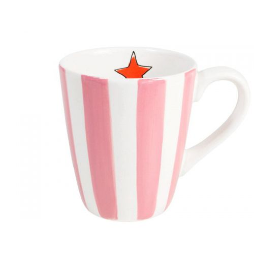 Mug Pink Stripe 0,35L